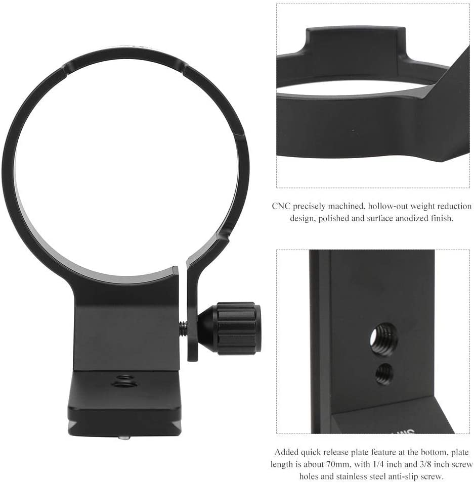 Vbestlife Aluminium Alloy Lens Tripod Mount Ring with Quick Release Plate Feature for Sigma 40mm f1.4 DG HSM Art Lens
