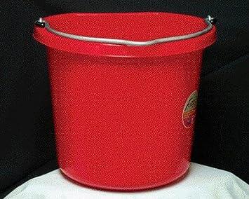 Fortiflex Flat Back Bucket 6 Gallon Red
