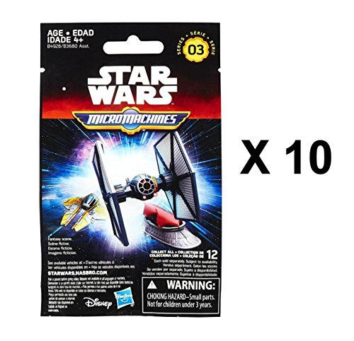 Star Wars The Force Awakens Micro Machines Series 3 Blind Bag Party Favours - Pack of 10 by Star Wars