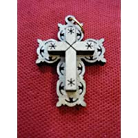 Small Unique Hand Made Olive Wood Crucifix Cross From Jerusalem Holy Land
