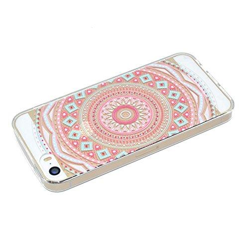 HYAIT® For IPHONE 5S/SE [XXG 17V4]Scratch-Proof Ultra Thin Rubber Gel TPU Soft Silicone Bumper Case Cover -BKI06