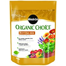 Scotts Company Miracle-Gro 72978510 Organic Choice Potting Mix, 8-Quart