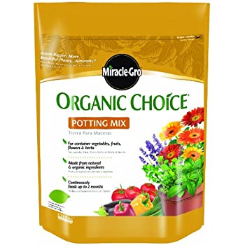 Miracle-Gro 72978510 Organic Choice Potting Mix, 8-Quart (currently ships to select Northeastern & Midwestern states)