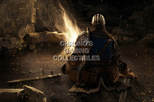 Dark Souls CGC Huge Poster Glossy Finish PS3 Xbox 360 - Undead Knight Bon Fire - DSS007 (24