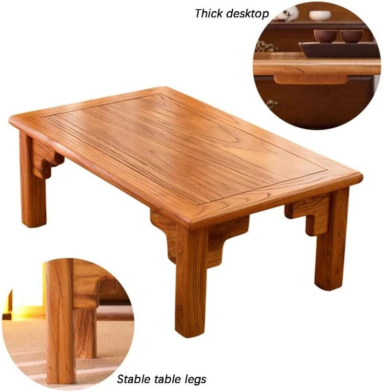Dwlxsh Storage Trunk Coffee Table Coffee Tables Tatami Japanese Style Low Table Laptop Study Table Solid Wood Bay Window Vintage Small Tea Table Amazon Co Uk Kitchen Home
