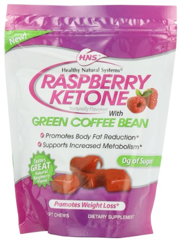 Healthy Natural Systems Diet Supplement, Raspberry Ketone Chews Pouch, 30 Count