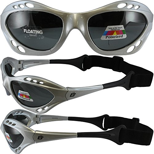 Silver Polarized Sunglasses Floating Water Jet Ski Goggles Sport Designed for the demands regularly encountered while Kite Boarding, Surfer, Kayak, Jetskiing, other water sports. by Silver Skateboards (Image #4)