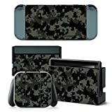 Cheap CAMO GREY Nintendo Switch Controller Cover Skin Set for Console Dock Joy Con Vinyl Decal Sticker Protector by BR