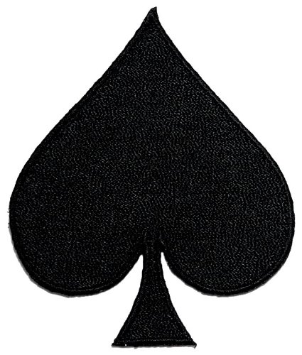 - Spades Playing Card Poker DIY Applique Embroidered Sew Iron on Patch
