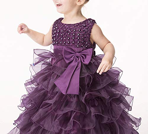 JupElle Little Baby Girl Dress Flower Ruffles Party Wedding Pageant Princess Dresses