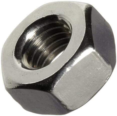 5//32 Thick #1-64 Thread Size Plain Finish 3//64 Width Across Flats Brass Machine Screw Hex Nut ASME B18.6.3 Pack of 100
