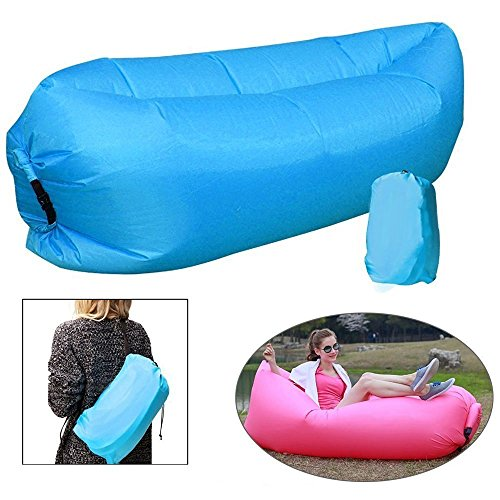 Banana Bed Air Lounger Fast Inflatable Air Bag Bed Sofa Couch Outdoor Beach Camping Hammock Lazy