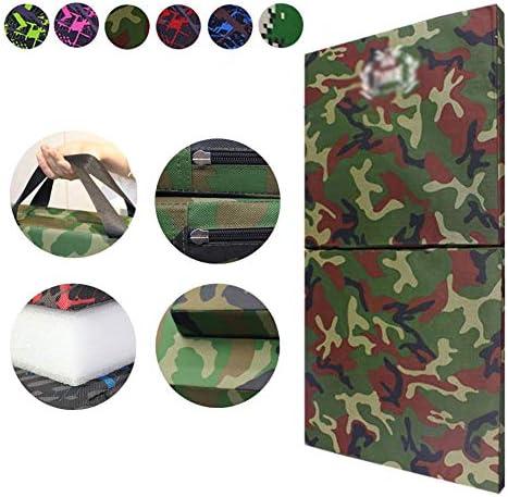 スポーツマット ストレッチマット 迷彩 フィットネスマット 学生 スポーツ用品 折り畳み可能 オックスフォード布 耐摩耗性、 6色、 9サイズ GUORRUI (Color : B, Size : 80x160x5cm)