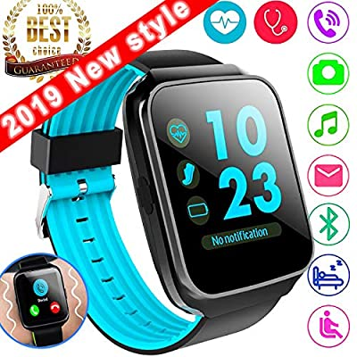Sports Fitness Tracker Smart Watch Phone for Women Men with Heart Rate Monitor Blood Pressure, Activity Tracker Watch Pedometer Health Monitor Summer Oudoor Swim Run Wearable Phone Wristband for Kid