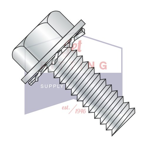 1/4-20X5/8 SEMS Screws | External Tooth Washers | Unslotted | Hex Washers Head | Steel | Zinc (QUANTITY: 3000) by Jet Fitting & Supply Corp