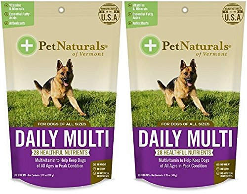 Daily Multi for Dogs, Multivitamin Chew Size:Pack of 2