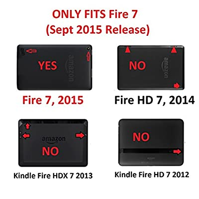 "Case for Fire 7 - Elsse Premium Folio Case with Stand for the NEW Fire, 7"" Display (Sept, 2015 Release) from Elsse"