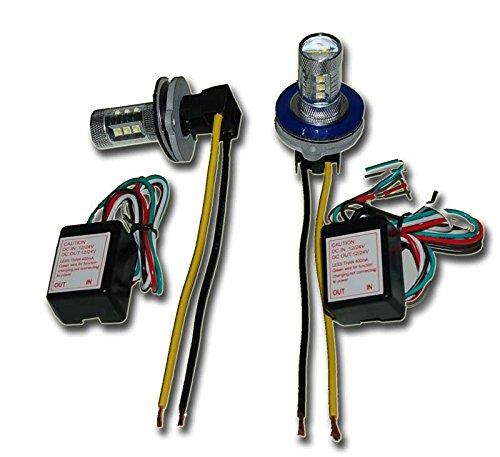 2 Head 15 Watt Hide-a-way Strobe Kit White LED Tail Lights Head -