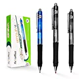 A2ZCare FlexOffice Premium Retractable Ballpoint Pen - FO-05 - Used for School Writing/Office Meeting/Work/Home - Ideal For Taking/Marking Notes, Grocery Lists (Assorted Color (12 counts))