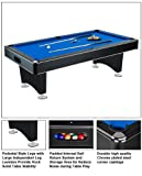 NG2520PB Hustler 8' Pool Table with Slate Graded Rails and an Internal Ball Return System