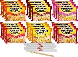 Amazon Com Maruchan Ramen Noodle Soup Variety 6 Flavors Pack