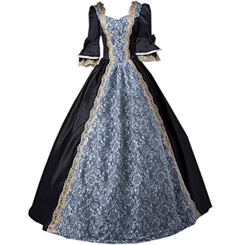 I-Youth Womens Royal Queen Medieval Renaissance Dresses Victorian Civil War Ball Gown Masquerade Costume ()