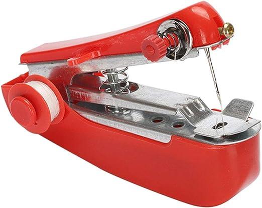 Mini máquina de coser portátil para el hogar, uso de viaje, accesorios de costura: Amazon.es: Amazon.es