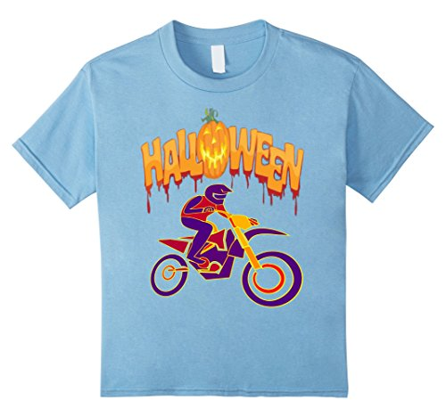 Kids Motocross Bike Halloween Costume T-Shirt 8 Baby Blue