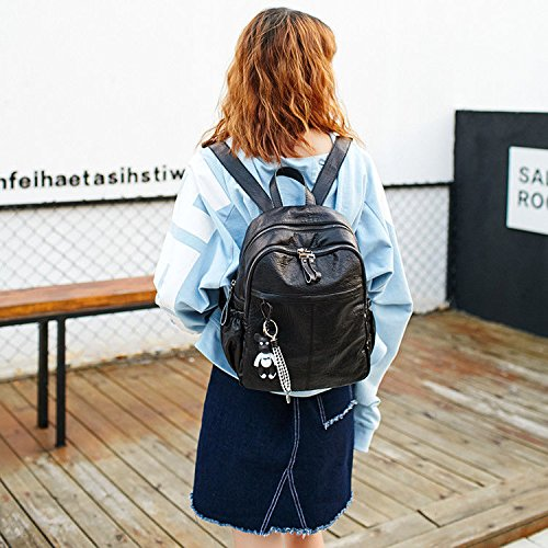 fashionFashion 12CM New da donna mano Nero Borsa da Nero Borsa Borsa 30 25 viaggio Casual Tote Zaino a dIxaxA