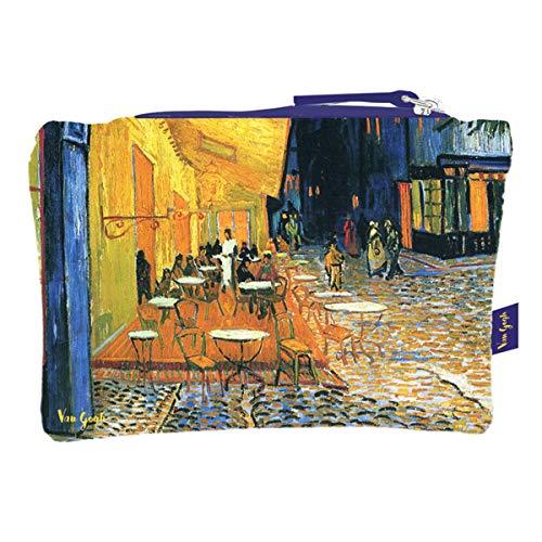 (Les Tresors De Lily [Q9260] - Flat cotton pouch 'Vincent Van Gogh' (coffee terrace at night) - 44x38 cm.)