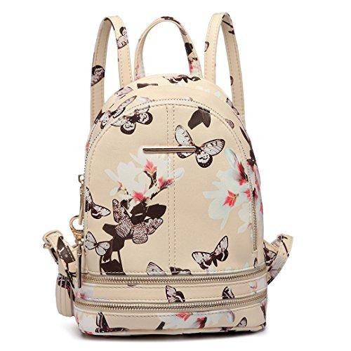 Miss Lulu - Bolso mochila  para mujer 1707 Beige