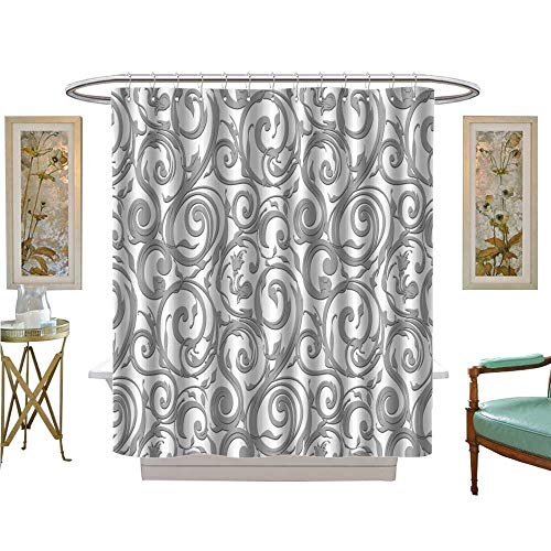 Marina Satin Shower Curtain - luvoluxhome Shower Curtains Digital Printing Wallpaper Vector Background Satin Fabric Sets Bathroom W72 x L84
