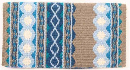 Mayatex Show Blanket (Mayatex Riverland Saddle Blanket, Taupe/Teal/Ocean Blue, 36 x 34-Inch)