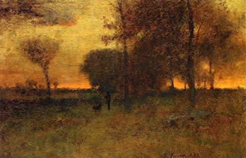 George Inness Sunset Glow 1883 Montclair Art Museum - Montclair, NJ 30