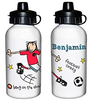 Personalisierte Trinkflasche Fussball Thema Schule