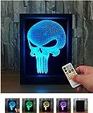 L&T STAR Punishment Mask Colorful Remote Control 3d Photo Frame Lamp Creative Photo Frame Lamp Led Photo Frame Lamp