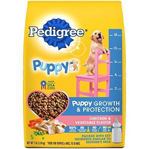 (Pedigree Puppy Growth & Protection Dry Dog Food Chicken & Vegetable Flavor, 7 Lb. Bag)