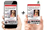 Xpress ID Digital and Physical Emotional Support Dog ID (Custom) | Includes Registration to National Dog Registry