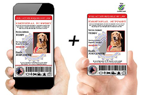 Xpress ID Digital and Physical Emotional Support Dog ID (Custom) | Includes Registration to National Dog Registry by Xpress ID