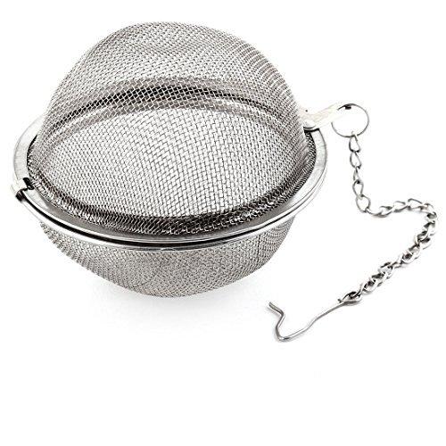 DealMux Household Teahouse Design de malha Spice Tea Infuser Filtro Bola de seis centímetros Dia tom de prata
