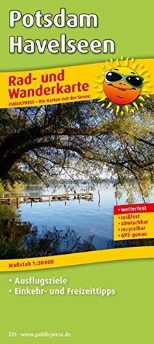 Potsdam - Havelseen: Rad- und Wanderkarte mit Ausflugszielen, Einkehr- & Freizeittipps, wetterfest, reissfest, abwischbar, GPS-genau. 1:50000 (Rad- und Wanderkarte / RuWK)