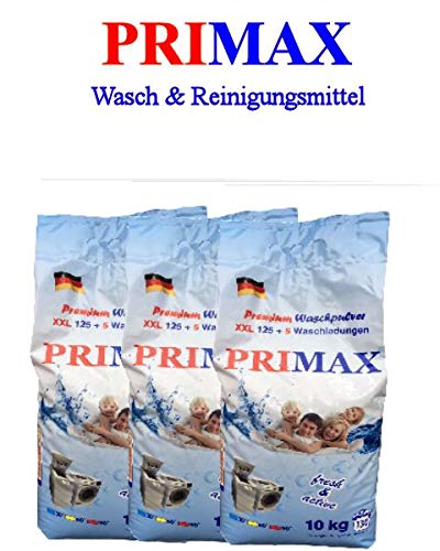 3 x 10 kg Primax detergente en polvo de fútbol con diseño de ...