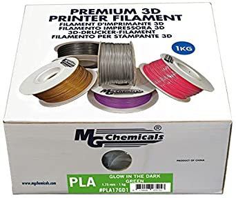 1 kg Spool MG Chemicals Black PLA 3D Printer Filament 1.75 mm