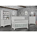 Evolur Santa Fe 5 in 1 Convertible Crib, Antique Mist