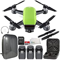DJI Spark Portable Mini Drone Quadcopter Hardshell Backpack Ultimate Bundle (Meadow Green)