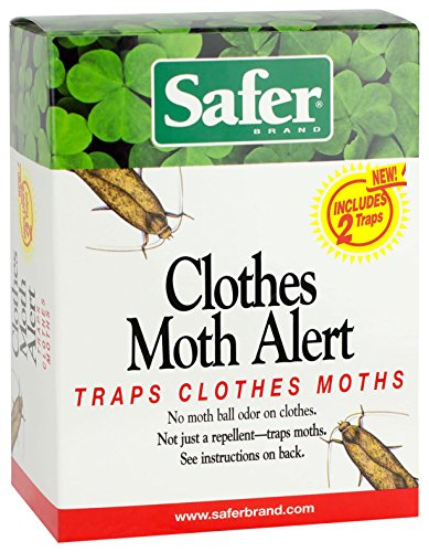 Clothes Moth Trap (Safer 07270-AMAZ Clothes Moth Trap, 3 Pack (6))