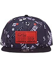 Difuzed Nintendo - 8Bit Super Mario Bros AOP Snapback Zwart