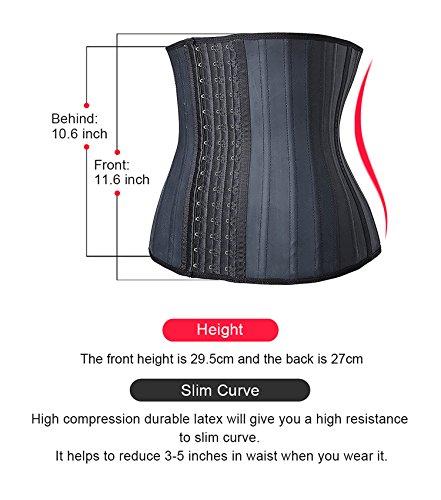 4b4d7e89c9 SHAPERX Women s Sports Latex Waist Trainer Corsets Cincher Weight Loss  Hourglass Shaper Girdle - Buy Online in UAE.