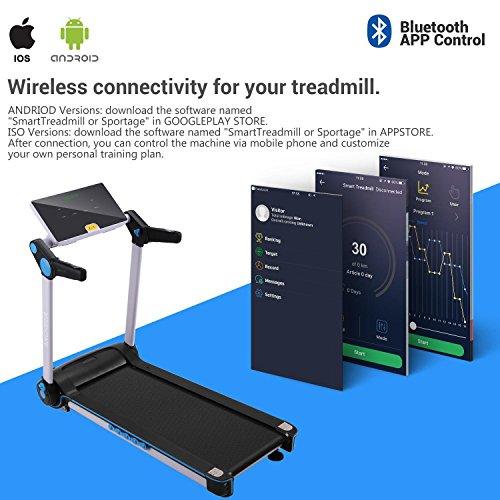 Garain S6400 Folding Electric Treadmill, Bluetooth App Control Touch Screen Exercise Equipment Walking Running Machine Home Fitness Treadmills (US STOCK) by Garain (Image #1)
