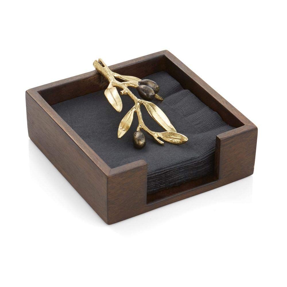 Michael Aram Olive Branch Gold Cocktail Napkin Holder   B01M3S0APF
